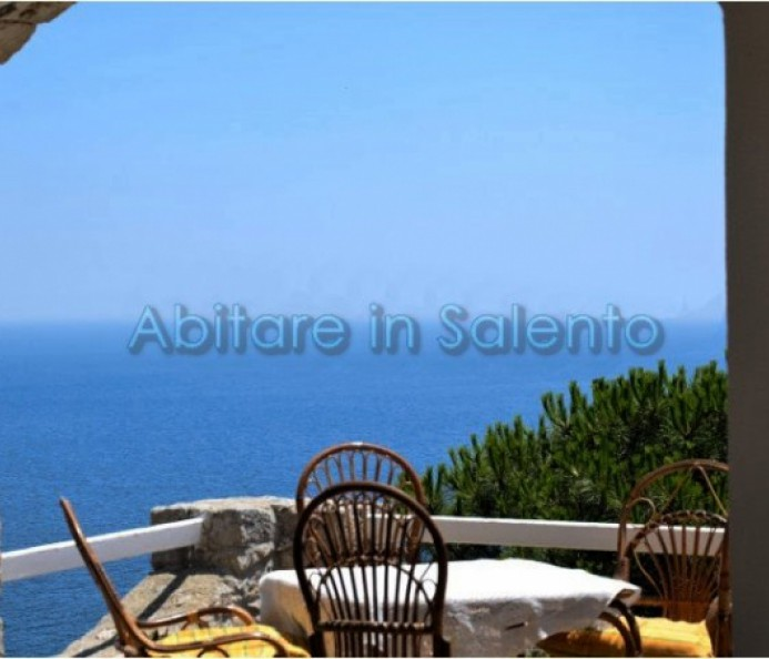 Detached stone villa overlooking the sea